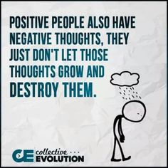 positive people, negative thoughts