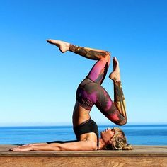 Plough Pose in Spiritgirl Yoga Pants - www.spiritgirl.co.za