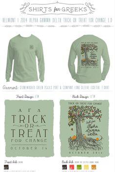 Alpha Gamma Delta | AGD | Halloween | Pumpkin | Fall | Trick Or Treat | Seasonal | Tshirts | Sorority Designs | Greek Life | shirtsforgreeks.com