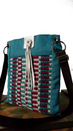 Fringed cross body bag / Hand woven Messenger / by LunaBagDesigns, $90.00