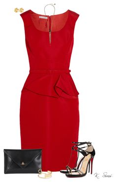 """""""Cleaning out the draft closet."""" by ksims-1 ❤ liked on Polyvore featuring Oscar de la Renta, Christian Louboutin, Vivienne Westwood, Sole Society, Jessica Simpson and Susan Shaw"""