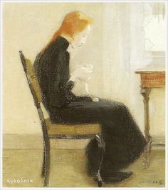 Helena Sofia Schjerfbeck (Finnish, 1862 - 1946) Genre scenes - «Впечатления дороже знаний...» Helene Schjerfbeck, Painting People, Figure Painting, Modigliani, Modernist Movement, Expressionist Artists, Portrait Illustration, Abstract Images, Scandinavian Modern
