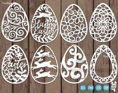 Items similar to Easter eggs SVG SET 1 Template, Easter Egg, Easter cut file Cricut, Design Set, Easter Templates, Easter Bunny Template, Silhouette Designer Edition, Carved Eggs, Easter Egg Designs, Stencil Material, Vinyl Paper