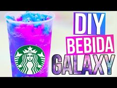 BEBIDA GALAXIA tipo STARBUCKS - DIY - YouTube