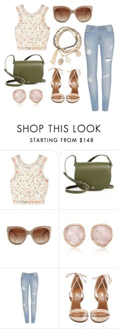 """Spring"" by allie-millexo ❤ liked on Polyvore featuring Etro, Tory Burch, STELLA McCARTNEY, Monica Vinader, Aquazzura and DesignSix"