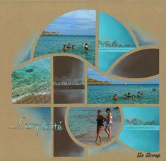 Gabarit Orion - So Scrap Album Photo Scrapbooking, Scrapbook Page Layouts, Scrapbook Pages, Digital Scrapbooking, Ibiza, Vacation Scrapbook, 4 Photos, Album Photos, Paper Trail