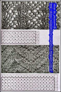TEJIDOS A DOS AGUJAS - TRICOT= PATRONES= GRAFICOS=TODO GRATIS