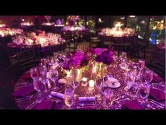 University Club of Jacksonville | Event Location | Banquet Room decorated with stunning purple, violet and lavender