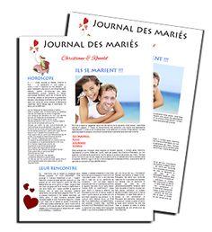 Le Contenu et traitement graphique d'un journal des mariés est très important.l'un des sujets les plus populaires: Noms des anniversaires de mariage. http://www.livret-mariage.fr/le-journal-des-maries-noms-des-anniversaires-de-mariage.html