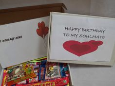 Retro Sweets Gift Box ROMANTIC BIRTHDAY FREE personalisation (45 sweets)  | eBay