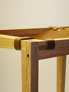 등받이 없는 의자 제작과정 part 2/2 SF LAB, Tabouret, Red oak + Tung oil + Leather, 2014, Seoul