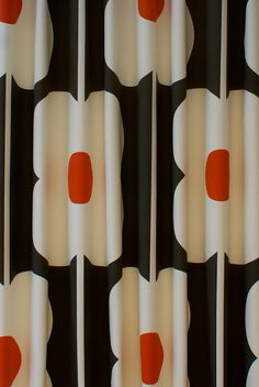 Abacus Flower Tomato Curtain Fabric
