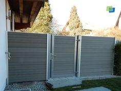 #WPC #Sichtschutz mit einer eingebauten Tür.
