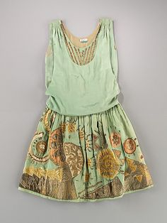 Dress, Evening  Myrbor  (French, 1922–1936)  Date: ca. 1926 Culture: French Medium: silk, metal
