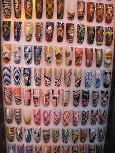Tons of nail designs! 3d Acrylic Nails, Fingernails Painted, Acrylic Nail Designs, Nail Art Designs, Fancy Nails Designs, Pretty Nail Designs, Pink Glitter Nails, Nagel Hacks, School Nails
