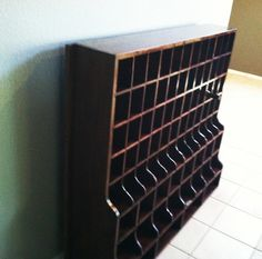 Wine Rack -   diy from post office boxes