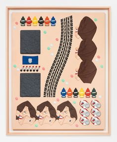 The work of Matthew Palladino has been undergoing a cyclical evolution over the last few years, as his painting and relief sculpture have engaged in a. Collage Sculpture, Object Lessons, 3d Painting, 3d Artwork, Viera, Play Houses, Illustrators, Illustration Art, Objects