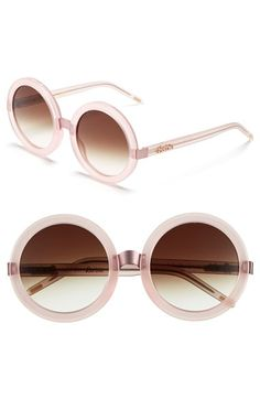 52123da23bd Wildfox  Malibu  56mm Round Sunglasses available at  Nordstrom Round Lens  Sunglasses