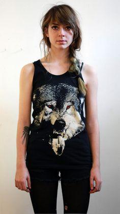 ACTUAL PAIN - Acid Wolf // Tank // Black