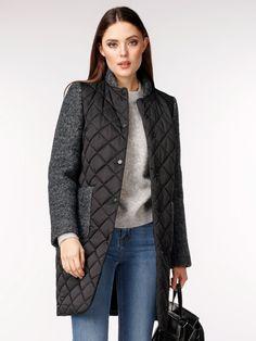 Пальто женское демисезонное цвет графит, Пальтовая ткань, артикул 1018530p10095