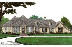 Single Story French Country | House Facade | Pinterest | House, Garage  Exterior And Ranch Exterior