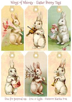 My next set of Easter tags features darling Vintage Bunnies :-) I know there has been a lot of tags lately, but I've been saving up ideas, I hope you are still in the mood for more...: Again, no Ea...