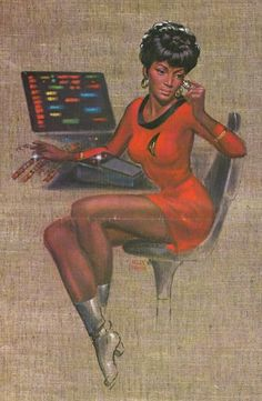 Star Trek: Uhura by Kelly Freas Star Trek Original, Star Wars, Star Trek Tos, Science Fiction, Nichelle Nichols, Starship Enterprise, Star Trek Universe, Love Stars, Illustrations