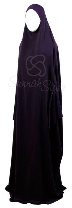 Essential Overhead Abaya (Eggplant) by Sunnah Style #SunnahStyle #jilbab #overheadabaya #abayastyle #Islamicclothing