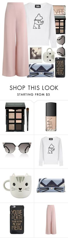 """""""Feline fashion"""" by marias1808 ❤ liked on Polyvore featuring Bobbi Brown Cosmetics, NARS Cosmetics, Fendi, Karl Lagerfeld, Sass & Belle and Zimmermann"""