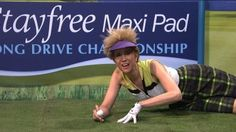 ESPN's coverage of a women's golf coverage is interrupted with news of OJ Simpson on the run and frequent advertisements for their sponsor, Stay Free Maxi Pads