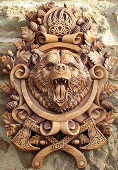 Viking Symbols and Meanings – Norse Mythology-Vikings-Tattoo Wax Carving, Wood Carving Art, Wood Art, Carving Pumpkins, Wood Carvings, Viking Symbols And Meanings, Norse Symbols, Mayan Symbols, Egyptian Symbols