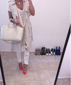 Sleeveless Blazer, White Jeans Outfit, Jean Outfits, Normcore, Coat, Jackets, Black, Style, Fashion
