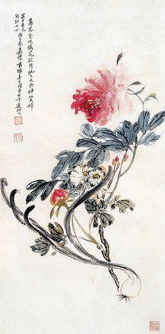 张大千-神仙富贵图轴 by China Online Museum - Chinese Art Galleries, via Flickr