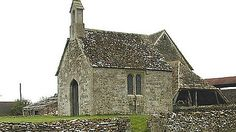 """Bremilham Church, Wiltshire: The smallest """"in service"""" church in Britain is to hold its once a year service on Sunday to mark Rogationtide.    The tiny church, on a farm near Malmesbury in Wiltshire, is just 4m (13ft) long by about 3.4m (11ft) wide."""