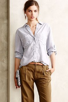 Luna Buttondown - anthropologie.com
