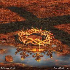 Jesus' Crown of Thorns reflecting the Merovingian Bloodline Crown. God and Jesus Christ Padre Celestial, Prophetic Art, Crown Of Thorns, Jesus Pictures, Jesus Is Lord, Lord Lord, King Jesus, King Of Kings, 1 Kings