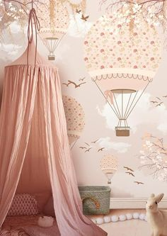 27 Childrens Bedroom Wallpaper Ideas it Making Cool Childrens Bedroom Wallpaper, Playroom Wallpaper, Children Wallpaper, Little Hands Wallpaper, Girl Wallpaper, Wallpaper Ideas, Striped Wallpaper, Wallpaper Wallpapers, Baby Bedroom