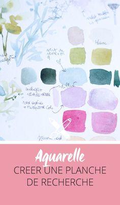 Planches de recherche à l'aquarelle: comment j'ai boosté ma créativité. Cliquez pour découvrir l'article ou enregistrez l'image pour plus tard!