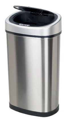 13.2-Gallon Infrared Touchless Stainless Steel Trash Can Kitchen or Office Sale #Ninestars