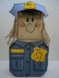 Ms+Police+Officer+Patio+Person+by+SunburstOutdoorDecor+on+Etsy,+$24.00