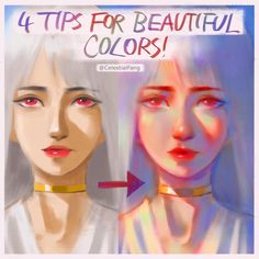 Digital Painting Tutorials, Digital Art Tutorial, Art Tutorials, Drawing Tutorials, Drawing Lessons, Drawing Techniques, Drawing Tips, Color Draw, To Color