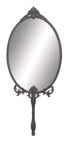 A.M.B. Furniture & Design :: Wall Mirrors :: Unique Metal Wall Mirror with Intricate Carved accents