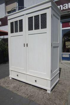 Schöner Kleiderschrank in weiß Antik Jugendstil Möbel Schrank ...