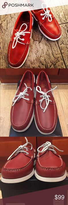 Brooks Brothers Red Leather Boat Shoes Brand New in Box. Brooks Brothers Red Leather Boat Shoes. Perfect for your next cruise or cook out! Retail $225 Brooks Brothers Shoes Boat Shoes