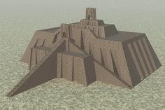 Reconstruction of the Ziggurat of Ur (Illustration) - Ancient History Encyclopedia