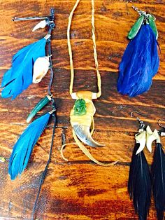 Nature finds & repurposed feathers, shark teeth, bear claw, greenstone Bear Claws, Tassel Necklace, Feathers, Shark, Repurposed, Teeth, Jewellery, Nature, Jewels