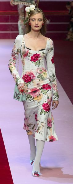 Różany Rose Ethereal || Dolce & Gabbana Spring-summer 2018 - Ready-to-Wear