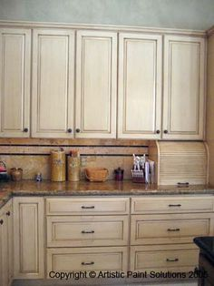 Kitchen Cabinets - Lowes - Kraftmaid Canvas with Cocoa Glaze on Solid Maple  | Maasie House 2017 | Pinterest