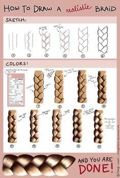 How to draw a realistic braid - tutorial (SAI) by MaayaInsane on DeviantArt