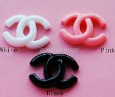 20pcs Flatback Resin Letter Double C Mix Color For Scrapbooking Craft Phone Case